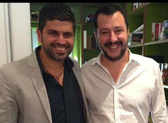 Francesco Zicchieri e Matteo Salvini