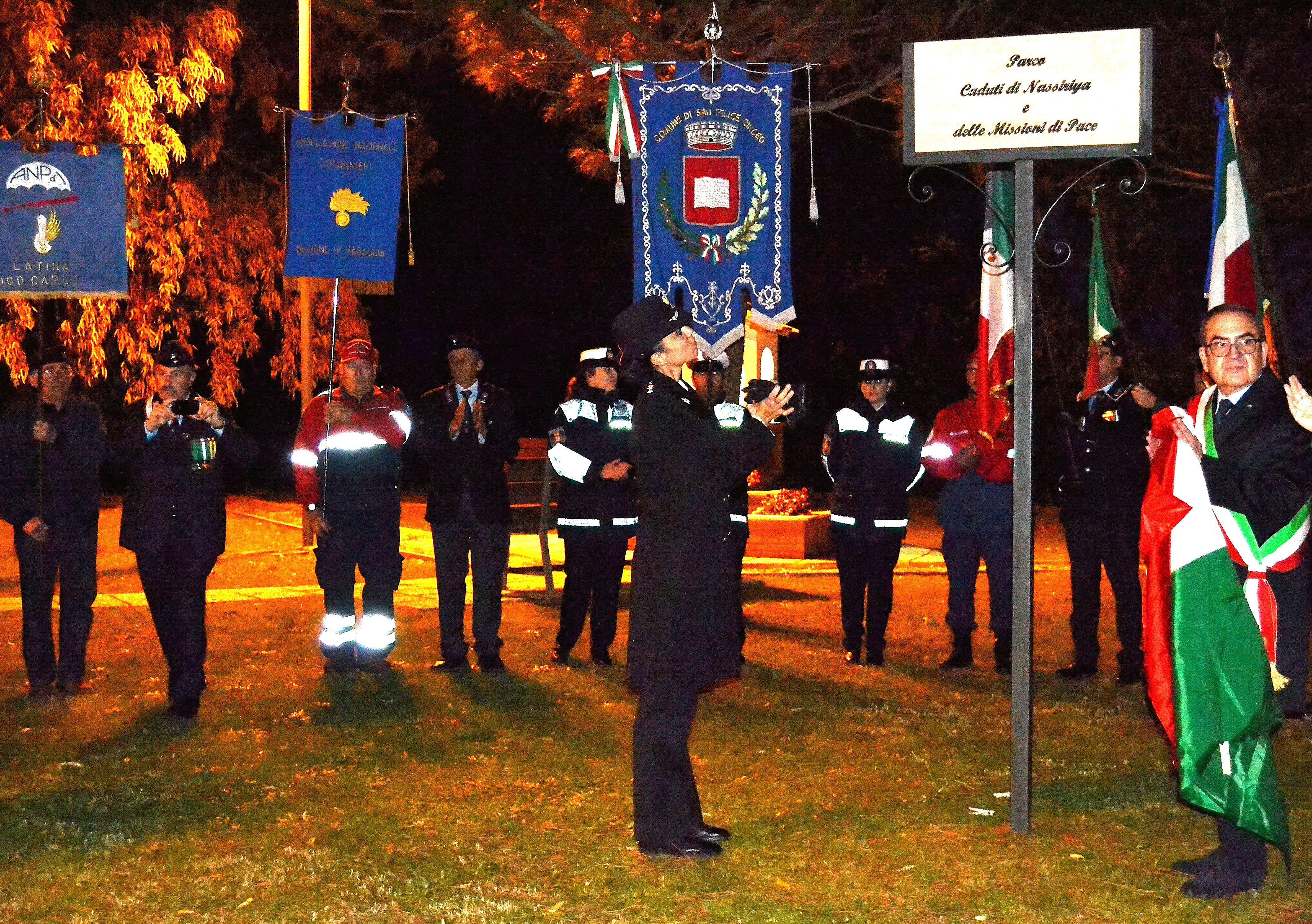 San Felice Circeo, intitolazione del nuovo parco di Montenero ai Caduti di Nassiriya e delle Missioni di pace