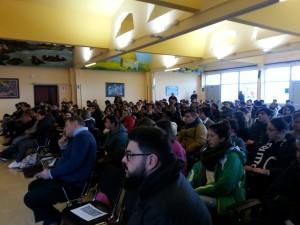 Gli studenti del San Benedetto all'incontro con Ruotolo