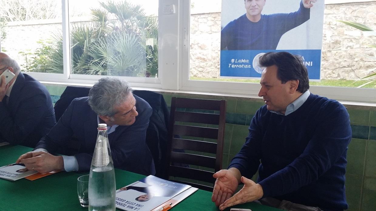Alessandro Calvi e Claudio Fazzone
