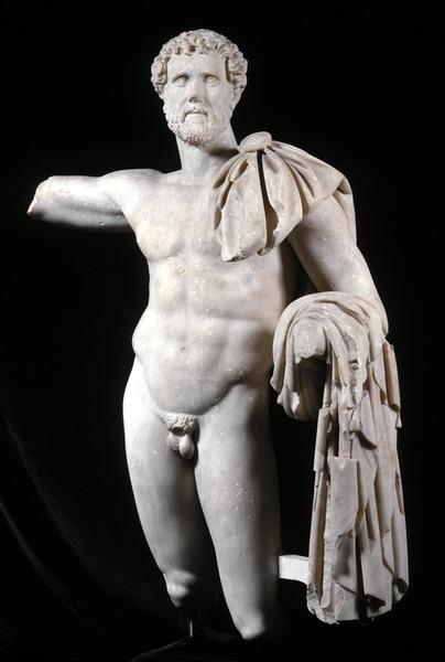 La statua dell'imperatore romano Antonino Pio