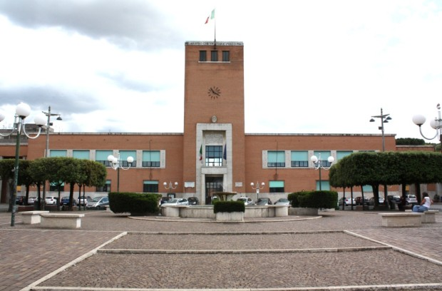 Piazza Indipendenza a Pontinia