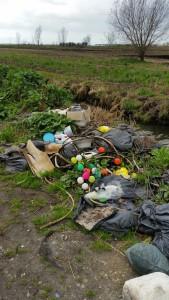 Sezze, rifiuti in pianura (1)