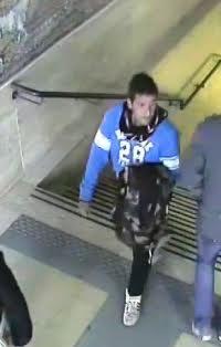 Antonio Fragione ripreso dalle telecamere della stazione