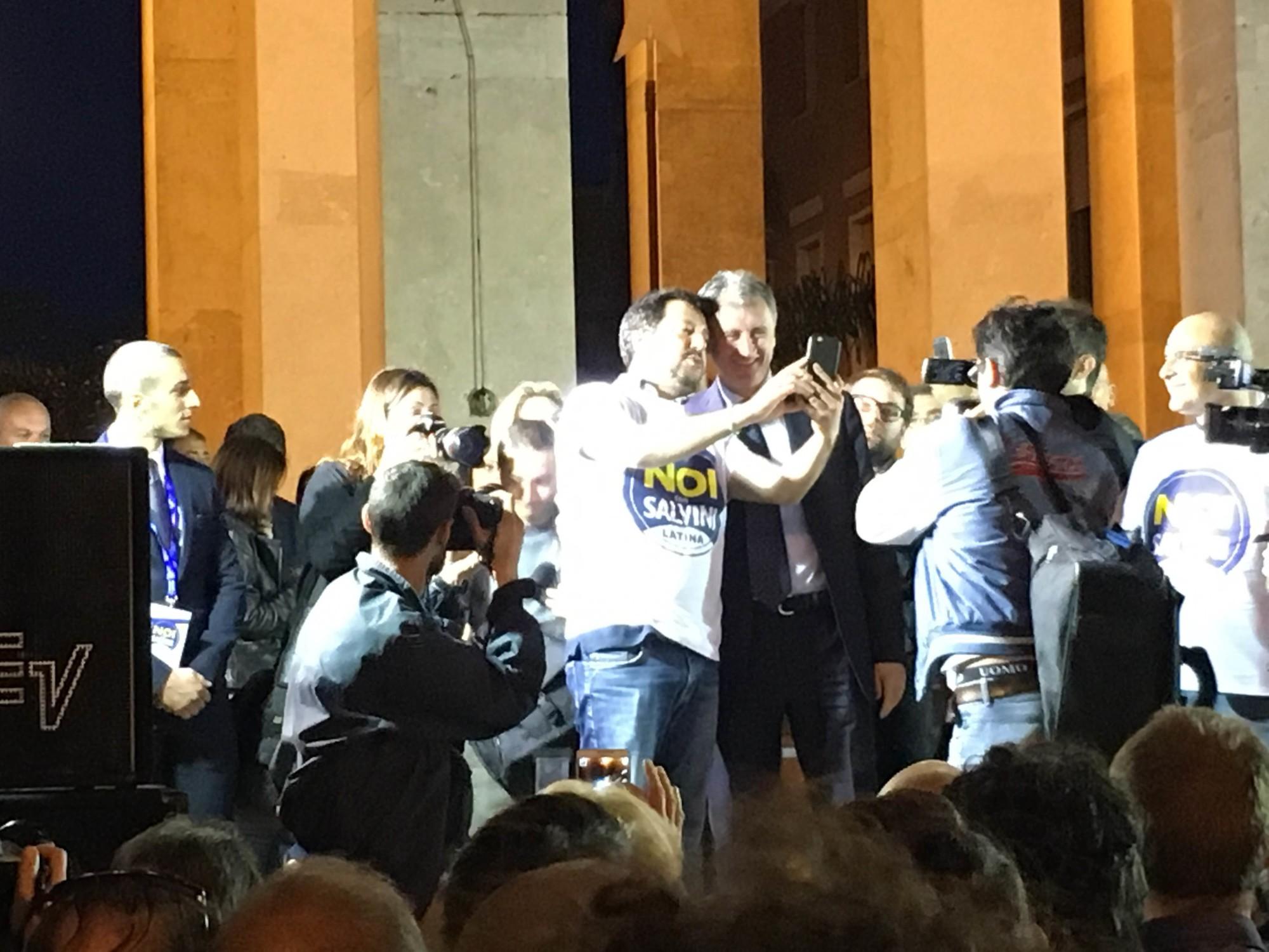 Matteo Salvini e Nicola Calandrini