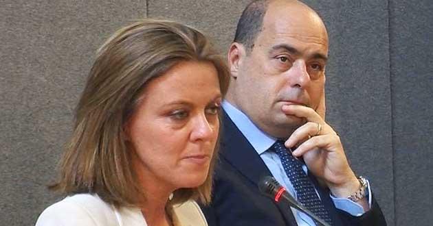 Il ministro Beatrice Lorenzin e il governatore del Lazio Nicola Zingaretti