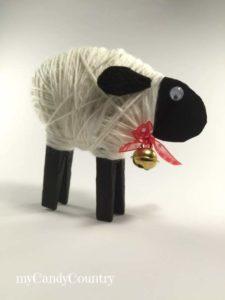pecorelle con mollette del bucato