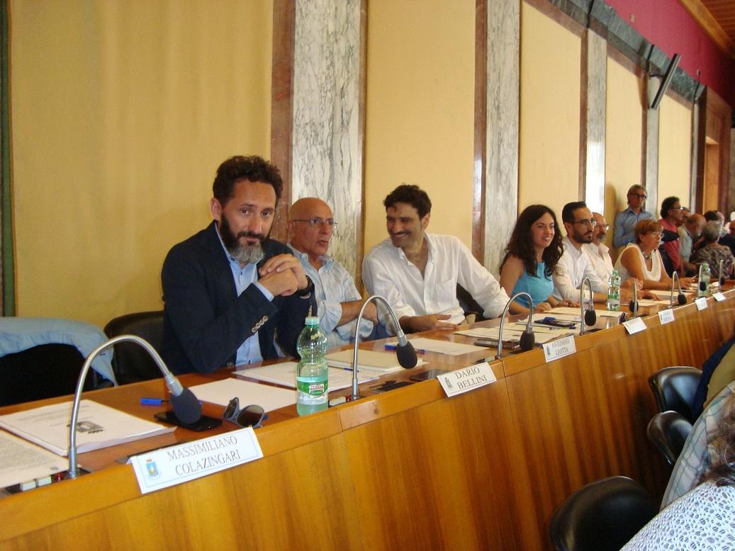 Il capogruppo Dario Bellini ed altri consiglieri di maggioranza