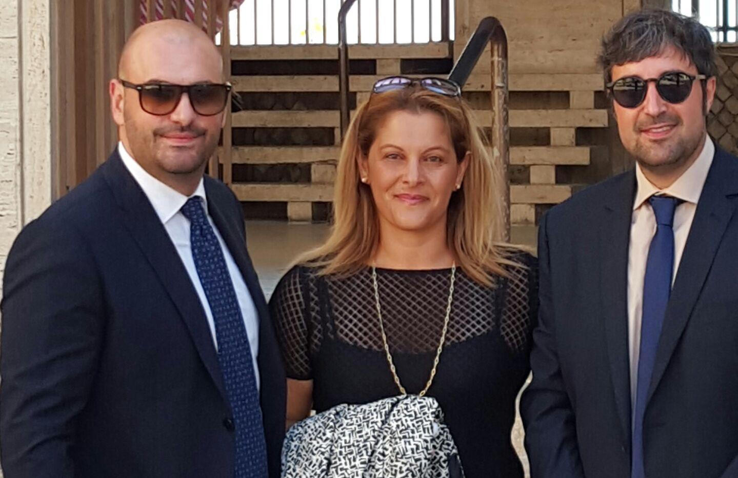 I consiglieri del gruppo Pd di Terracina: da sinistra Alessandro Di Tommaso, Valentina Berti e Giuseppe D'Andrea