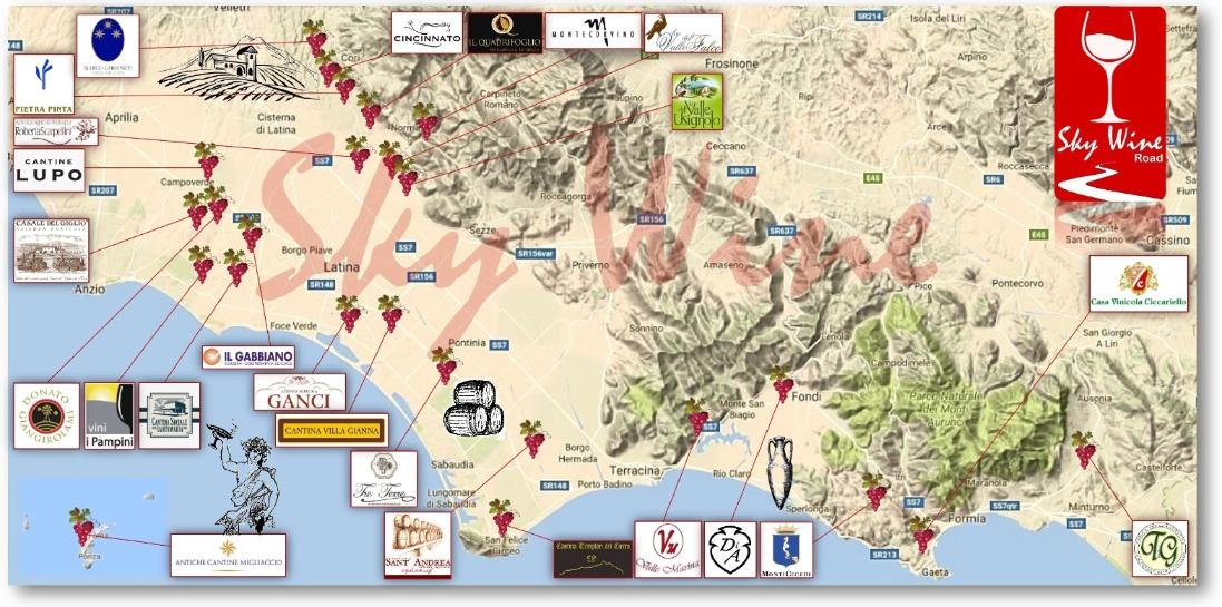 Calendario Enologico.Sky Wine La Mappa Dell Enoturismo Della Provincia Pontina E