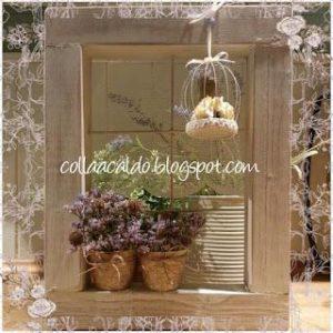 finestra decorativa da recupero vecchia cornice