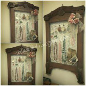 porta bijoux: riciclo creativo di vecchia cornice