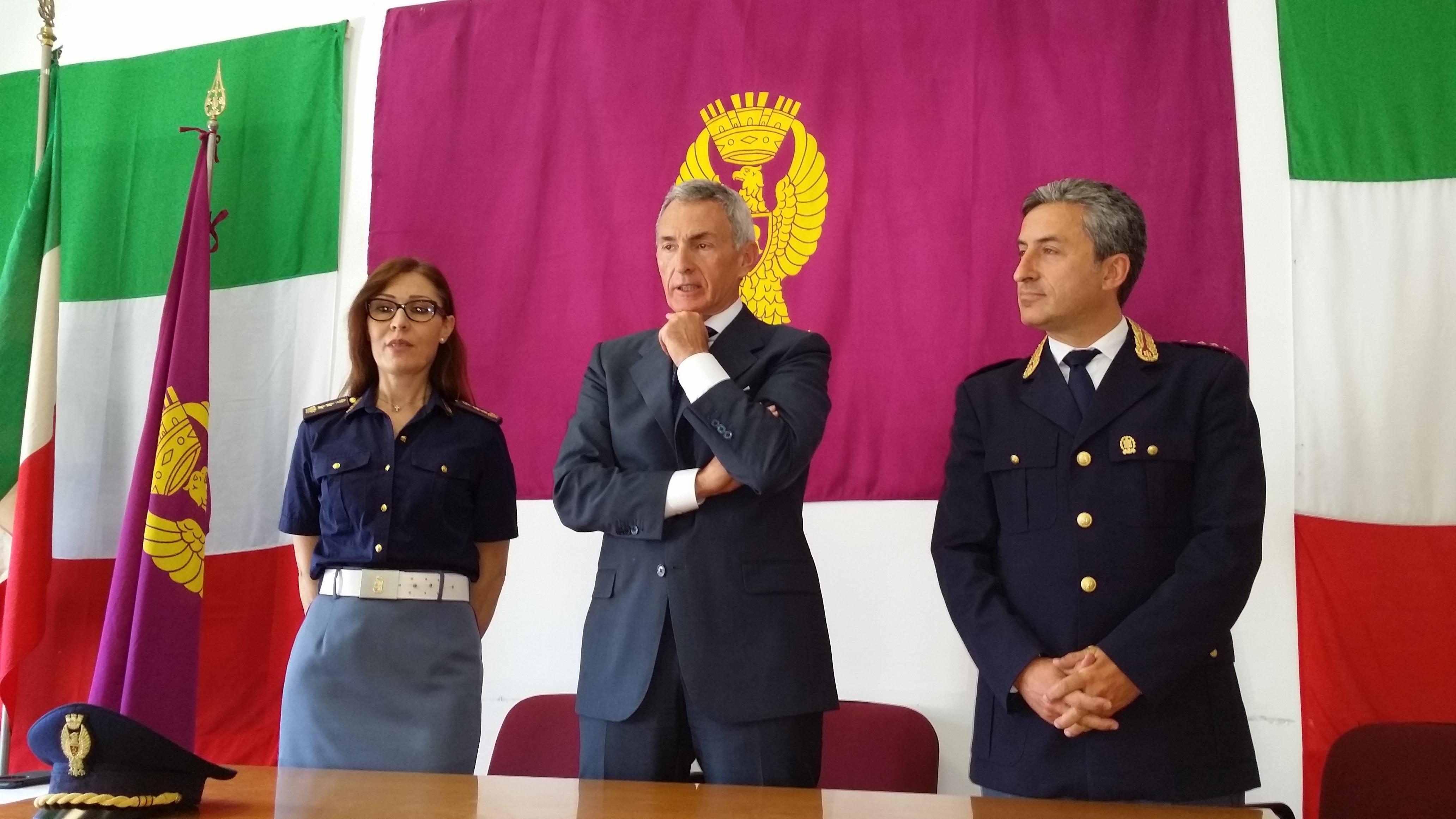 La conferenza stampa di oggi. Da sinistra Manuela Iaione, Giuseppe De Matteis e Carmine Mosca