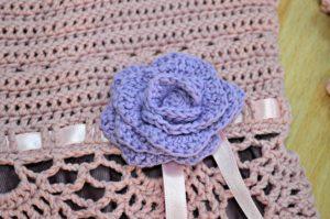 lilac crochet rose dress for girls