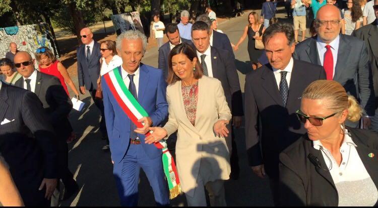 Damiano Coletta e Laura Boldrini