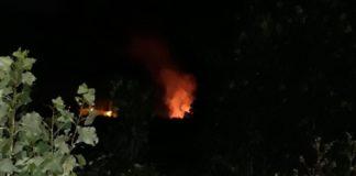 incendio nella notte