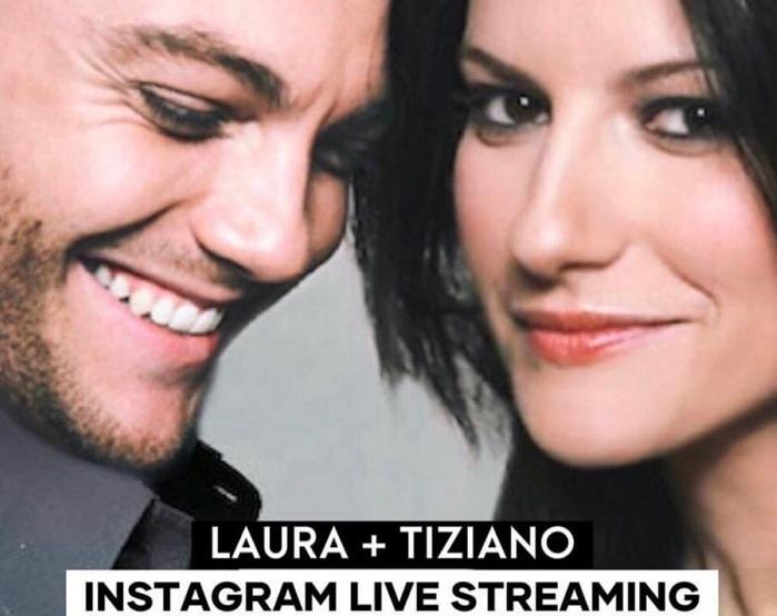 Tiziano Ferro e Laura Pausini in diretta doppia su Instagram