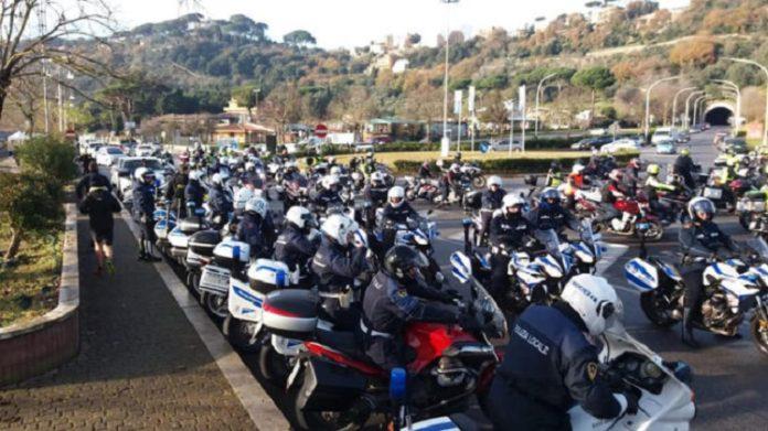 Motoraduno delle polizie locali del Lazio